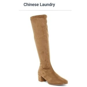 🆕 Camel Suede Knee High Boots Size 8